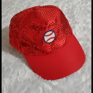Red sequin•velcro adjustable•baseball patch•OS•